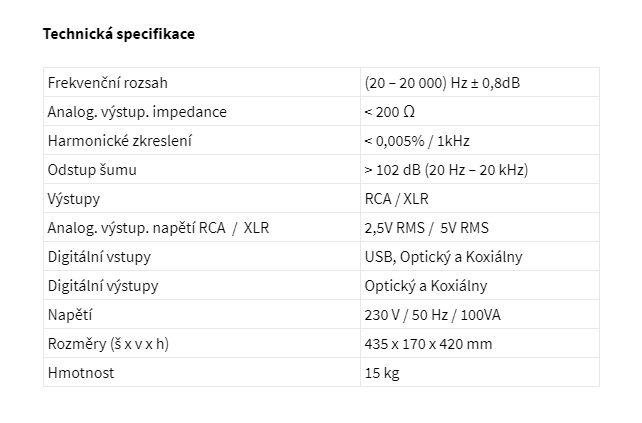 TECHNICKA SPECS CANOR CD1.10 HIFIEVEREST