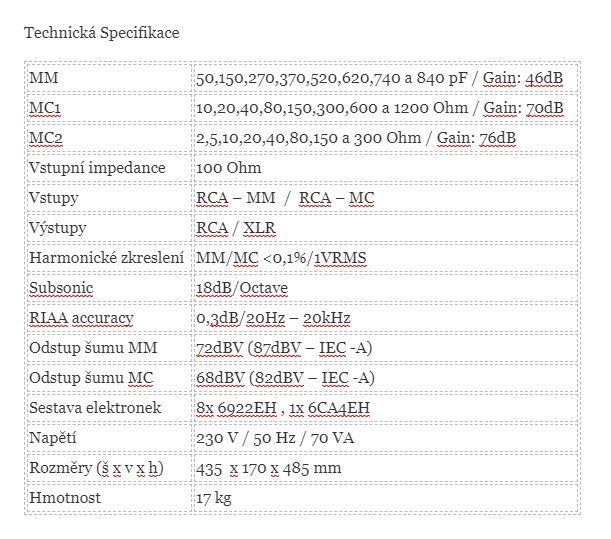 TECHNICKA SPECS CANOR PH1.10